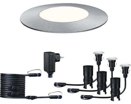 Plug & Shine Einbauspot-Set IP65 Basisset 3x2,5W 50 lm 4000 K neutralweiß Ø 55/40 mm Floor Mini silber 230/24V 3 Stück