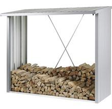 Kaminholzunterstand biohort WoodStock 230 229 x 102 x 199 cm silber-metallic