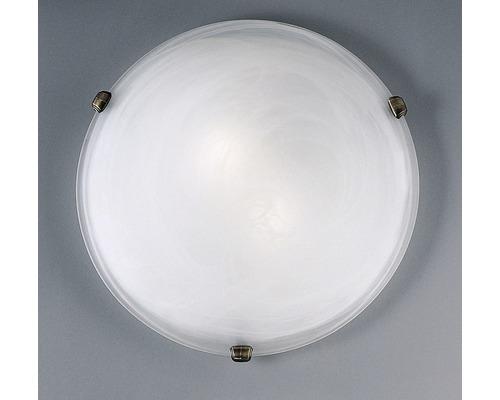 Deckenleuchte Salome 2-flammig weiß, brüniert, Ø 40 cm