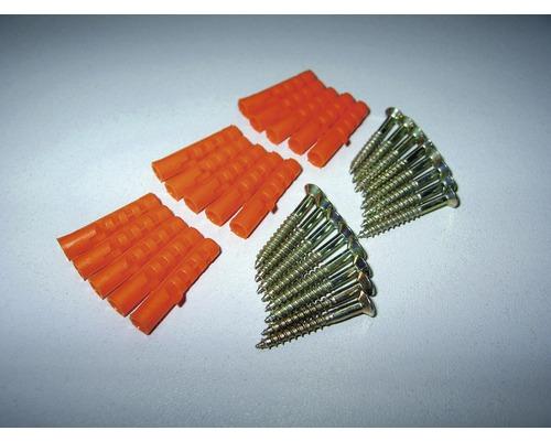 Schrauben und Dübeln 3,0 mm 25 mm silber für gelochte Standardprofile
