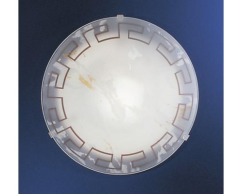 Wandleuchte Twister 1-flammig weiß, Dekor antik, Ø 25 cm