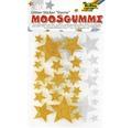 Moosgummi Glitter-Sticker Sterne 40-tlg.