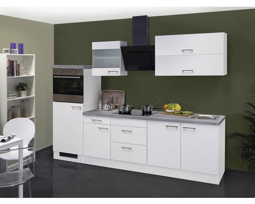 Küchenzeile Varo 270 cm inkl. Einbaugeräte weiß