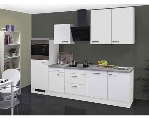 Küchenzeile Varo 280 cm inkl. Einbaugeräte weiß