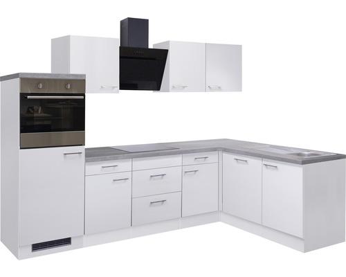 Winkelküche Varo 280 cm inkl. Einbaugeräte weiß