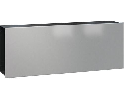 Serafini Zeitungsfach Stahlblech BxHxT 422/161/93 mm FLAT WIDE Front Stahl/graualuminium Korpus schwarz 30.7192.67