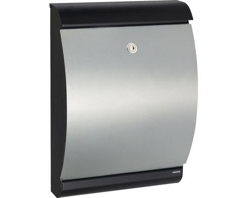 MEFA Briefkasten Stahl pulverbeschichtet/verzinkt BxHxT 320/455/150 mm Puffin 300 verzinkt/schwarz Entnahme vorne