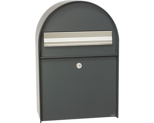 MEFA Briefkasten Stahl pulverbeschichtet BxHxT 380/555/210 mm Amber 400 Anthrazitgrau RAL 7016 Entnahme vorne