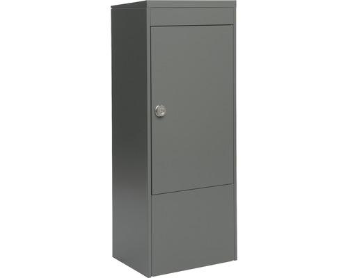MEFA Paketkasten Stahl pulverbeschichtet BxHxT 410/1030/310 mm Balsa 4830 Basaltgrau semimatt RAL 7012 Entnahme vorne