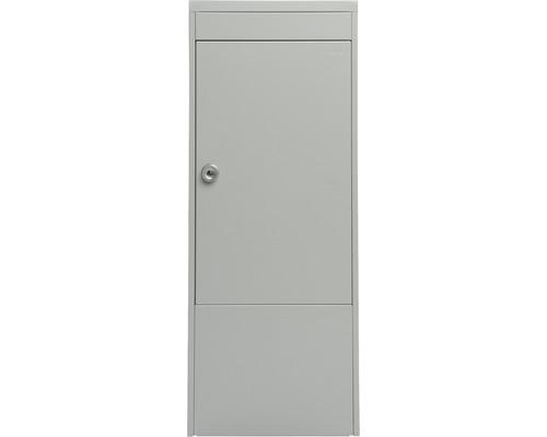 MEFA Paketkasten Stahl pulverbeschichtet BxHxT 410/1030/310 mm Balsa 4830 Weißaluminium semimatt RAL 9006 Entnahme vorne