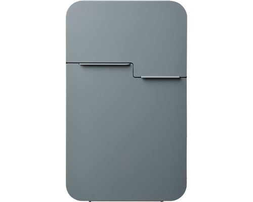 MEFA Briefkasten Stahl pulverbeschichtet BxHxT 322/539/132 mm Retro 620 Basaltgrau RAL 7012 semimatt Entnahme vorne
