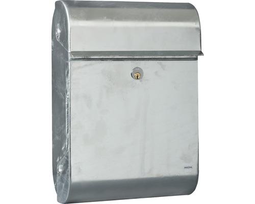MEFA Briefkasten Stahl feuerverzinkt BxHxT 330/480/150 mm Opal 840 Entnahme vorne