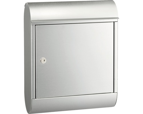MEFA Briefkasten Edelstahl/gebürstet BxHxT 340/430/150 mm Topaz 842 Entnahme vorne