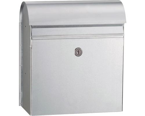 MEFA Briefkasten Briefkasten Stahl verzinkt BxHxT 365/425/180 mm Jade 870 Verzinkt Entnahme vorne mit Klappe