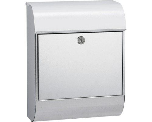 MEFA Briefkasten Stahl verzinkt BxHxT 352/450/160 mm Pearl 872 verzinkt mit integriertem Zeitungsfach
