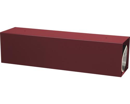 MEFA Zeitungsrolle Stahl pulverbeschichtet BxHxT 430/110/110 mm Letter 11 Oxydrot RAL 3009 semimatt