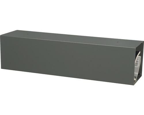 MEFA Zeitungsrolle Stahl pulverbeschichtet BxHxT 430/110/110 mm Letter 11 Basaltgrau RAL 7012 semimatt