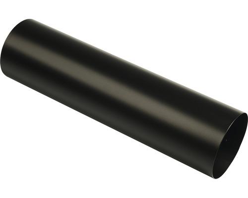 MEFA Zeitungsrolle Stahl pulverbeschichtet BxØ 420/110 mm 78 Tiefschwarz Matt RAL 9005 Struktur