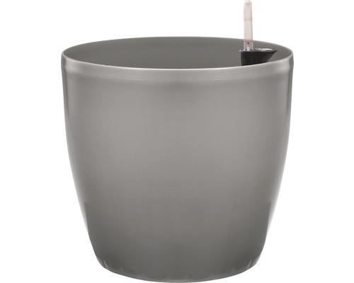 Pflanztopf Lafiora Kunststoff Ø 22 H 20 cm grau inkl. Erdbewässerungssystem und Wasserstandsanzeiger