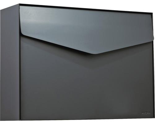 MEFA Briefkasten Stahl pulverbeschichtet BxHxT 430x312x128 mm Letter 112 Anthrazitgrau RAL 7016 semimatt ohne Namensschild mit Klappe