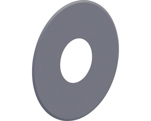 Pellet-Line Rosette geschlossen Rand 80mm Ø 100mm grau