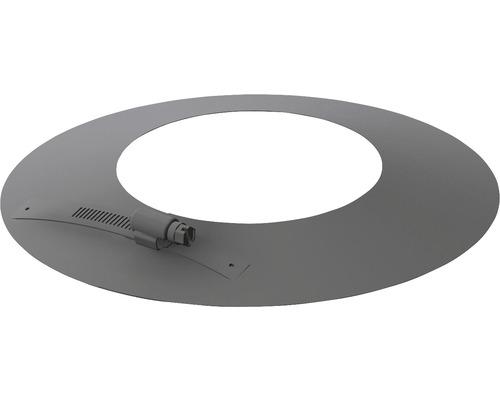 Pellet-Line Rosette geteilt Rand 50mm Ø 80mm grau