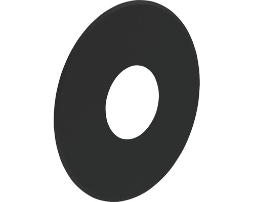 Pellet-Line Rosette geschlossen Rand 80mm Ø 80mm schwarz
