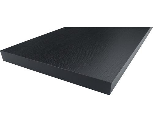 Regalboden Esche Schwarz 19x200x1000 mm