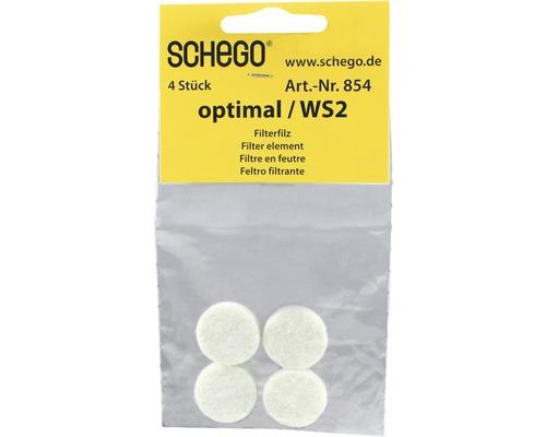 Filterfilz SCHEGO für Optimal 4 Stück weiß