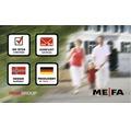 MEFA Briefkasten Edelstahl/gebürstet BxHxT 315/540/155 mm Wave 630 Tiefschwarz RAL 9005 Struktur und Edelstahl Entnahme vorne