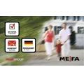 MEFA Briefkasten Stahl pulverbeschichtet BxHxT 340/430/150 mm Topaz 844 Verkehrsweiß RAL 9016 glänzend mit Zeitungsrohr Entnahme vorne
