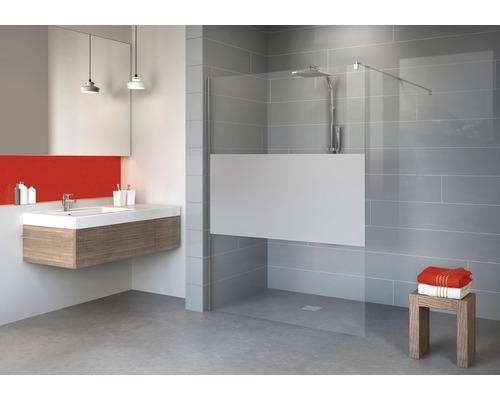 Walk In Duschwand Schulte Alexa Style 2.0 Beite 90 cm Dekor Dezent Profilfarbe chrom