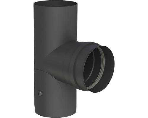 Pellet-Line T-Stück m. Muffe mit Revision Ø 80mm schwarz