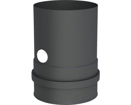 Pellet-Line Kesselanschluß m. Muffe u. Messstutzen Ø 80mm schwarz