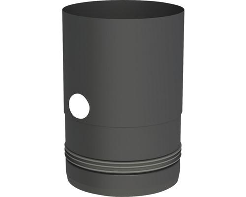Pellet-Line Kesselanschluß m.Einzug u. Messstutzen Ø 80mm schwarz