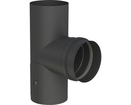 Pellet-Line T-Stück m. Muffe mit Revision Ø 100mm schwarz
