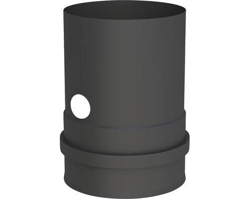 Pellet-Line Kesselanschluß m. Muffe u. Messstutzen Ø 100mm schwarz