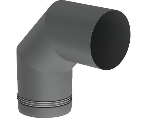 Pellet-Line Winkel 90° starr Ø 80mm grau