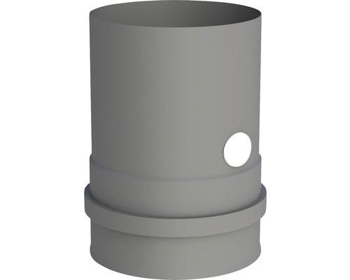Pellet-Line Kesselanschluß m. Muffe u. Messstutzen Ø 80mm grau