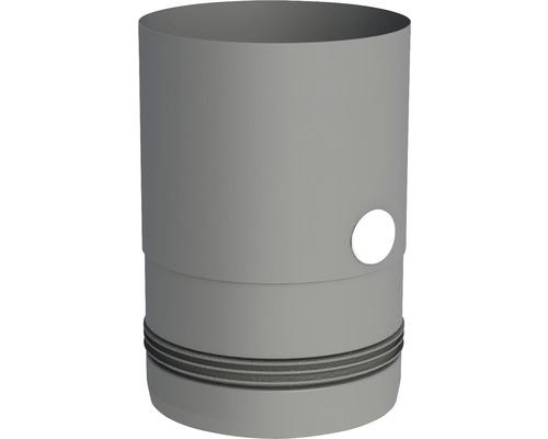 Pellet-Line Kesselanschluß m.Einzug u. Messstutzen Ø 80mm grau