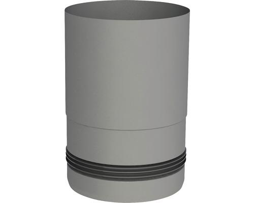 Pellet-Line Kesselanschluß mit Einzug Ø 80mm grau
