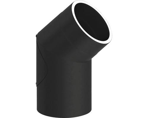 Jeremias Iso-Line Winkel 45° mit Tür Ø150mm schwarz