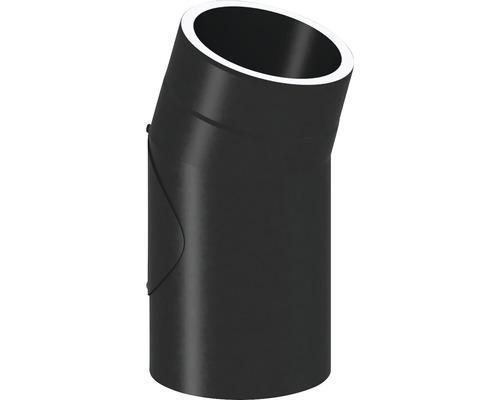 Jeremias Iso-Line Winkel 15° mit Tür Ø150mm schwarz