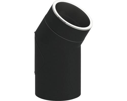 Jeremias Iso-Line Winkel 30° mit Tür Ø150mm schwarz