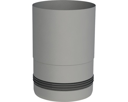 Pellet-Line Kesselanschluß mit Einzug Ø 100mm grau