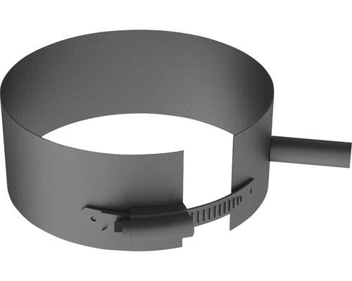 Pellet-Line Befestigungsschelle mit Gewindemuffe M8 Ø 100mm grau
