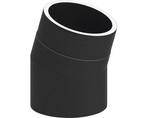 Jeremias Iso-Line Winkel 15° ohne Tür Ø150mm schwarz