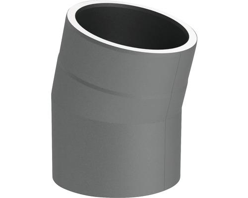 Jeremias Iso-Line Winkel 15° ohne Tür Ø150mm grau