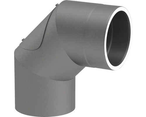 Jeremias Iso-Line Winkel 90° mit Tür Ø150mm grau