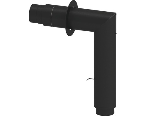 Jeremias Iso-Line Winkelrohrset 780x630mm Ø150 edelstahl lackiert schwarz